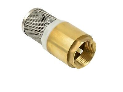 "Brass Spring Check Foot Valves Non-Return. Sizes 1"" filter Spare for Diesel Pump"