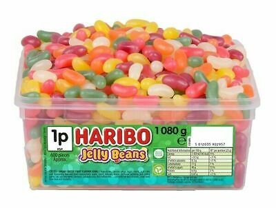 HARIBO Jelly Beans - Full Tub 1080g - Approx 600 sweets