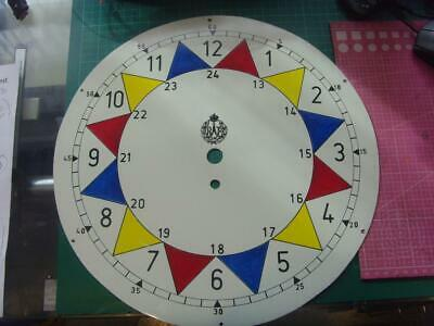 14 inch vintage painted RAF sector clock dial
