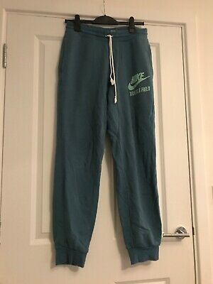 Mens Medium Nike Tracksuit Bottoms Trackies Track & Field Blue