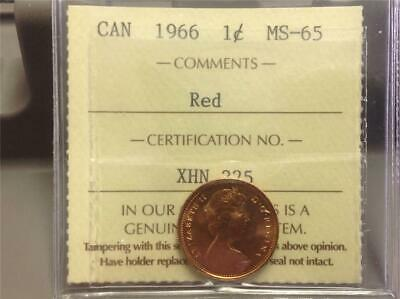1966 - ICCS - MS-65 - Small Cent - Scroll down for all images