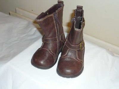 Mother Care Girls Brown  Boots. Size 4  Side Zips. Hardly Used Condition Good.