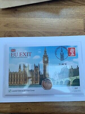 2020 UK Brexit 50p Coin & Stamp Cover LIMITED EDITION ONLY 995 pre order