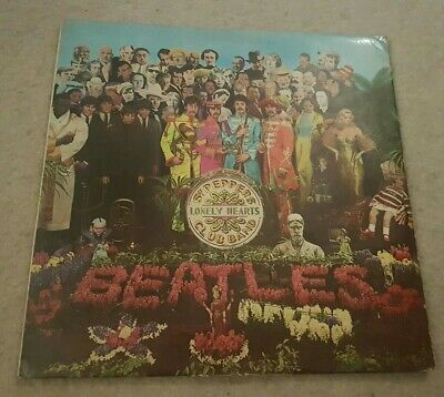 The Beatles Sgt Peppers Lonely Hearts Club Band Vinyl Cut Out 1967 EMI