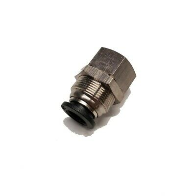 "Push to Connect Fittings - Bulkhead - 3/8"" Tube 1/4"" FNPT / PMF3/8-N02"