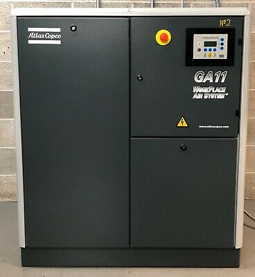 Atlas Copco GA11 Rotary Screw Compressor 11Kw, 10Bar, 54Cfm Immaculate Order!