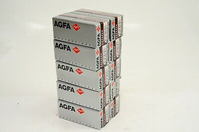 10 rolls of AGFA APX 25 ISO B/W FILM IN 120 FORMAT, EXPIRED 2/2002,free shipping
