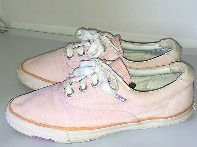 SUPERDRY Shoes Corduroy Trainers Size 6/39 Light Pink Very Good Condition