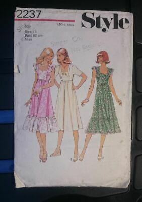 Style 2237; ©1978; Misses' Dress: High-waisted dress sewing pattern