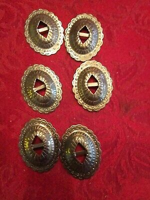 TRINITY CONCHOS small solid BRASS VINTAGE High Quality USA Leather Craft Set