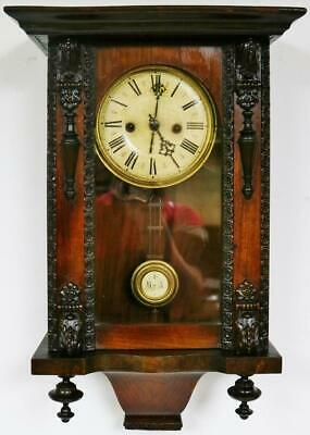 Antique 8Day Walnut Vienna Wall Clock German Musical Strike Regulator Wall Clock