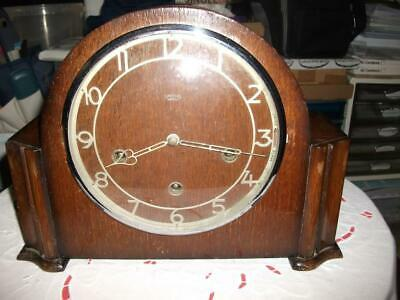 "Smiths ""Peterborough"" Westminster Chiming Mantel Clock In Need Of Refurbishment."