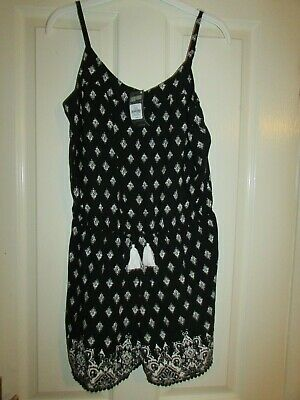 girls pretty black/white patterned playsuit from Primark size 14-15yrs,BNWT