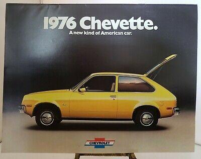 1976 CHEVETTE Sales Brochure Original Chevrolet Dealer Buyer Guide 1970s Cars