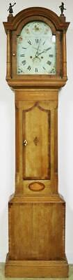 Antique English 8 Day Longcase Clock Striking Mahogany & Oak Grandfather Clock