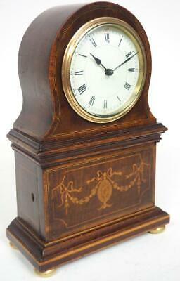 Fantastic French 8 Day Mantel Clock Solid Mahogany Hidden Drawers Mantle Clock