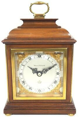 Elliott & Co Solid Caddy Top Mantel Clock Mahogany Case 8Day London Mantle Clock