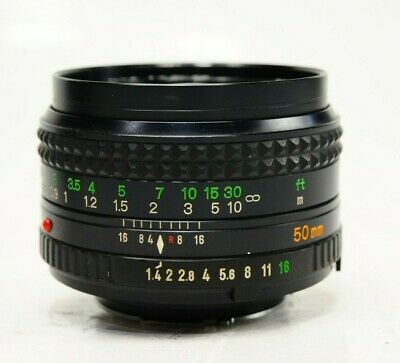 """"""" AS-IS """"  MINOLTA MD Rokkor 50mm f/1.4 MF Lens fungus inside Sold AS-IS"""