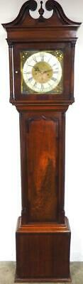 Antique Longcase Clock 8Day Striking English Mahogany Grandfather Simpson C1775
