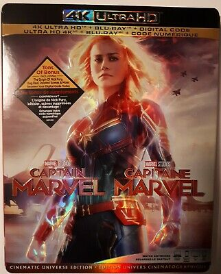 Captain Marvel (Bilingual) - 4K UHD Ultra HD + Blu-ray (2019) BRAND NEW