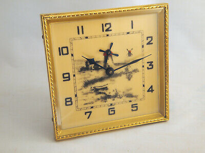 Excellent Animated Windmill Mantle Clock