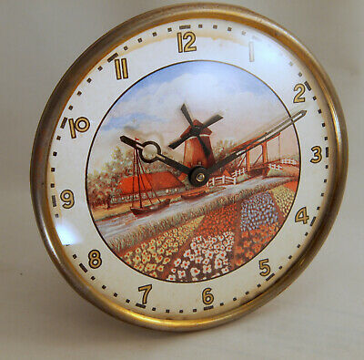 Lovely Animated Windmill Mantle Clock