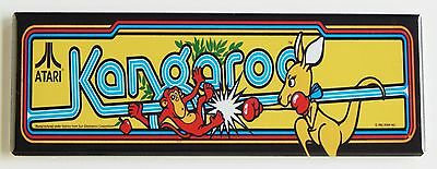 Kangaroo Marquee FRIDGE MAGNET (1.5 x 4.5 inches) arcade video game header