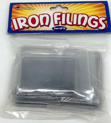 Learning Resources Iron Filings, Set of 5