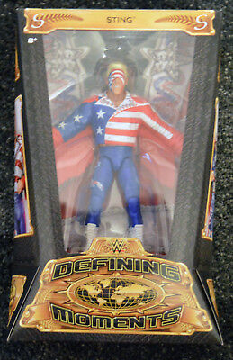 WWE Sting Defining Moments Mattel Wrestling Figure Surfer Sting WCW Elite