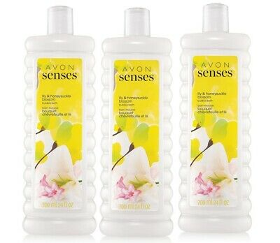 Avon Senses Lily & Honeysuckle Bubble Bath - Lot of 3