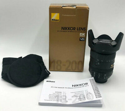 Nikon NIKKOR 18-200mm f/3.5-5.6 AF-S ED VR II Zoom Lens - Mint Condition!