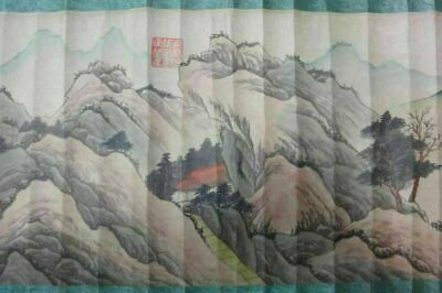 "On Sales! Old Long Chinese Old Scroll Hand Painting Landscape ""ShenZhou"" Marks"