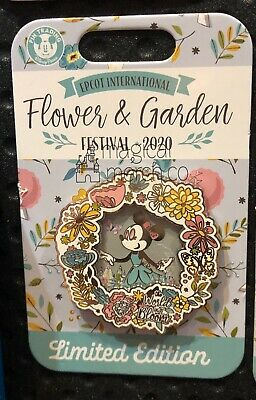 Disney Parks 2020 EPCOT Flower and Garden Festival Minnie Mouse Pin LE Bloom