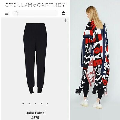 Stella McCartney Size 36 Small Julia Track Pants Black $575