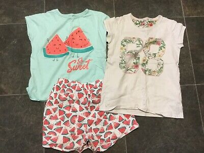 Bundle of  Girls Pyjamas age 8-9 years old - shorts / t-shirt