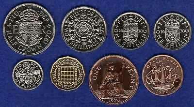 GB, 1970 Proof Coins, 50th Birthday Gift, Choice of Coin, Last Pre-Decimal Issue