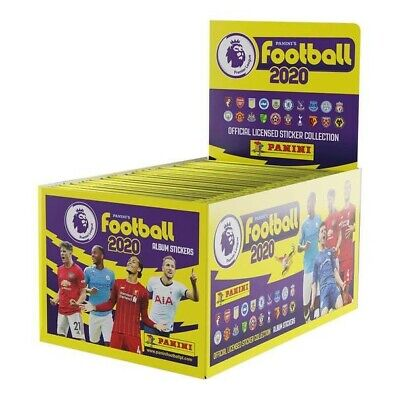 Panini FOOTBALL 2020 Full Box Premier League Stickers 100 Packets