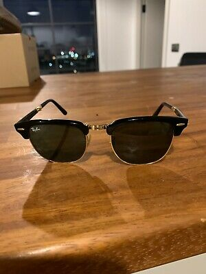 Ray-Ban Clubmaster Folding Sunglasses - Black