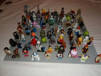 92 X LEGO MIXED THEMES GENUINE  Minifigures LOT - MASSIVE COLLECTION SOME RARE