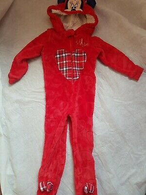 Minnie mouse Hooded All In One  sleep Footed  2-3 years