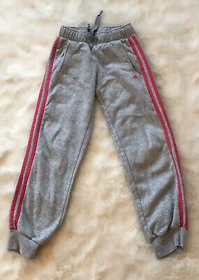 Adidas Joggers Age 9 - 10 VGC Grey And Pink
