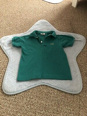 Boys Lacoste Polo Green Size Age Years 4
