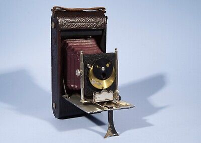 Early Antique Folding Camera * Red Bellows