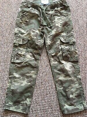 Boys Fat Face Cargo Combat Trousers Camouflage Age 6