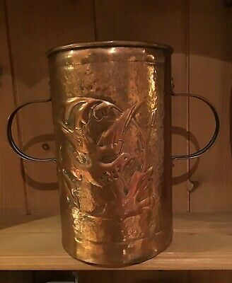 Arts & crafts copper vase Fivemiletown John Williams interest not Newlyn or Hale