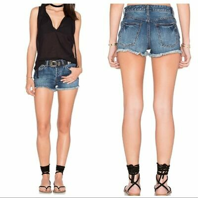 NWT Free People Rock Denim Uptown Shorts in Camp Retail $68