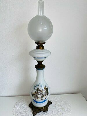 Petroleumlampe Messing Jugendstil um 1900
