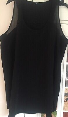 RIVER ISLAND CAMI VEST TOP SIZE 18 UK Great CONDITION Black Summer Beach