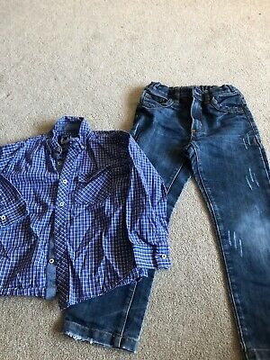 Boys Outfit Age 5-6 Years - Jeans And Next Shirt