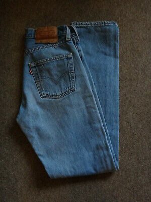 Vintage Levi 501 W28 L32 Blue Jeans, Made In the USA, 80's Red Tab, vgc